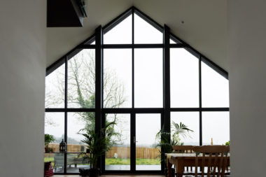 Borrowstone Bothy Internal Gable Window View