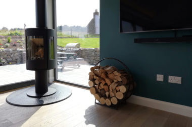 Log Burning Stove with View