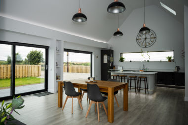 Modern Kitchen with Sliding Patio Door