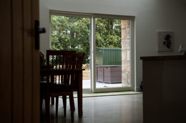 White Sliding Patio Door Internal View