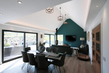 Living Area with Sliding Patio Doors